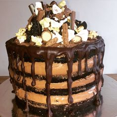 Naked cake for the 14 year olds birthday - spoilt boy