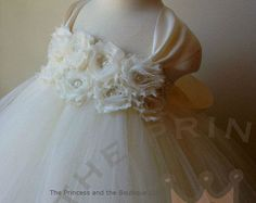 Items similar to Champagne and Ivory Dress Flower Girl Dress Tutu Dress Wedding Dress Flower Girl Tulle Dress Deluxe Floral Dress Baby Dress Toddler Dress on Etsy Grey Flower Girl Dress, Baby Dress, Flower Girls, Baby Tutu, Baby Girl Hats, Girl With Hat, Baby Boy, Baby Girl Christening, Christening Dresses