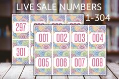 FB Live Sale Normal Number Tag, Number 001 - 304, Mandala, Printable, Instant Download, Digital Files, Tag is 3.5 x 2, 8 Tags in one page  You will get Number 001 to 304.  You will receive 1 PDF files with 8 tags on each page. Print ready!  You are purchasing a DIGITAL Download. No Physical Item will be shipped. ===THIS IS AN INSTANT DOWNLOAD ITEM===   =========HOW THIS WORKS?=======&...