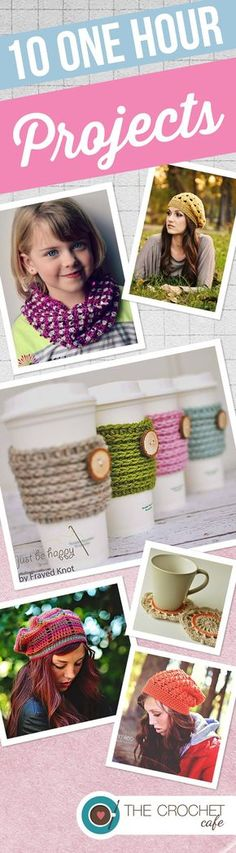 Quick crochet patterns for hats, scarves, and accessories