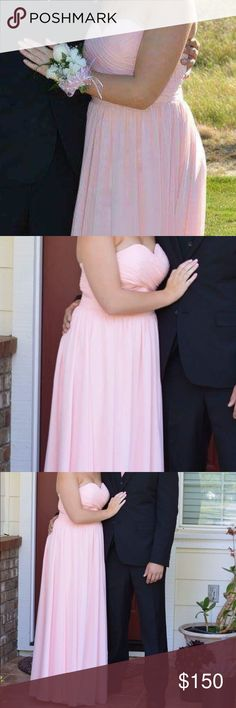 Pink strapless dress Pink prom dress only worn once great condition Dresses Strapless