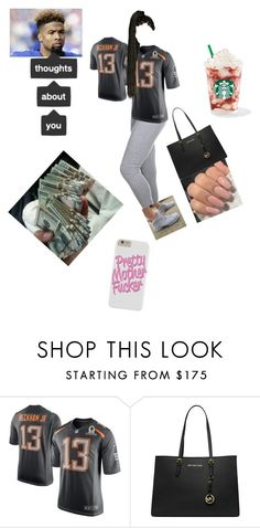 """""""ODELL BECKHAM JR 🏈🏈🏈"""" by khaurin ❤ liked on Polyvore featuring NIKE and Michael Kors"""
