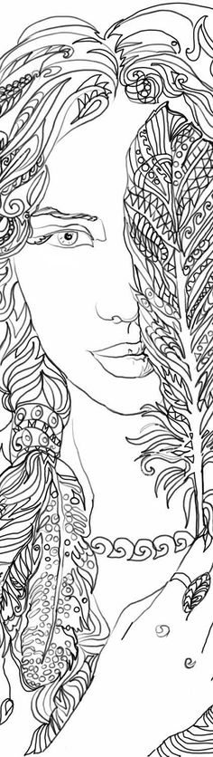 Feathers Coloring pages Printable Adult Coloring book Clip Art Hand Drawn Original Zentangle Colouring Page For Download Doodle Girl Picture  Original drawings by Valentina Ra. Printable Adult Colouring Page, hand drawn  This download contains 1 PDF + 1 JPG file compatible to print at US Letter (8.5 x 11 Inches)or A4 standard print size .  ★ HAND DRAWN DESIGNS - All of our designs are painstakingly drawn by hand. Nothing is computer generated, so the finished product looks like something you…