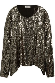 Faith Connexion Sequined organza top | NET-A-PORTER