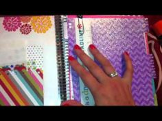 How I make dividers for my Erin Condren Life Planner! :D