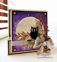 That's Life: Night Owl using Tim Holtz, Ranger, Sizzix and Stamper's Anonymous products; Jan 2015