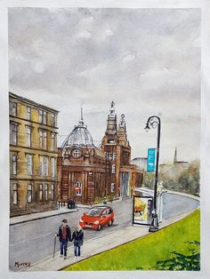 Transport Museum, Carnivals, West End, Funny Cartoons, Watercolour Painting, Glasgow, Art Gallery, Street View, Events