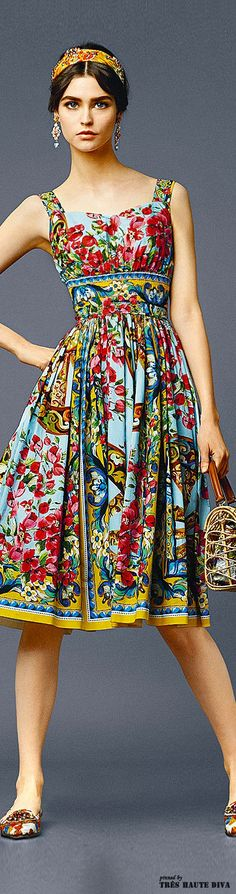 gypsy boho folk floral fashion summer vintage style to die for Dolce & Gabbana - Summer 2014