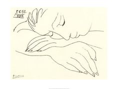 Pablo Picasso line drawings.