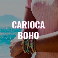 """A marca reflete um estilo Bohochic sem perder o """"special touch"""" Carioca. São peças feitas à mão, com materiais de qualidade e com amor pelos detalhes."""