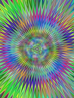 Multicolor hypnotic star fractal background