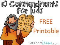 + images about 10 Commandments craft on Pinterest | Ten commandments ...