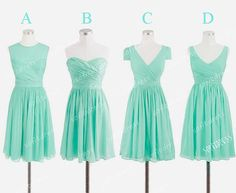 Hey, I found this really awesome Etsy listing at https://www.etsy.com/listing/168346507/tiffany-bridesmaid-dress-mismatch