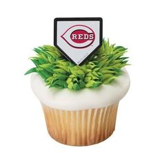 MLB Cincinnati Reds Cupcake Rings - 24 ct ** Insider's special review that you can't miss. Read more :  : baking decorations