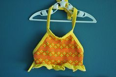 Vintage Toddler Girl's Two Piece Halter Top by SweetShopVintage, $16.00