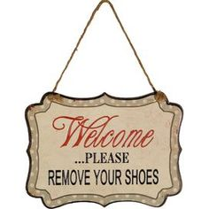 Please Remove Your Shoes Wall Decor
