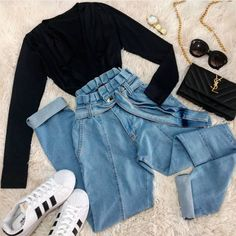 outfits for school . outfits with leggings . outfits with air force ones . outfits for summer . outfits with sweatpants Teen Fashion Outfits, Retro Outfits, Outfits For Teens, Girl Outfits, Summer Casual Outfits For Women, Style Fashion, Preteen Fashion, Workwear Fashion, Petite Fashion