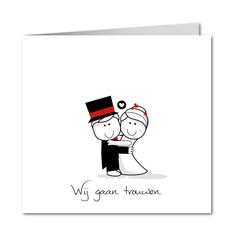 Originele huwelijksuitnodigingen│ Planet-cards.nl