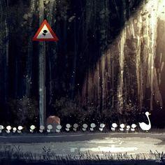 Bird crossing. #Pascalcampion