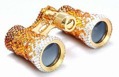 .Diamond, gold and rubies Opera glasses.....Now this is an Accessory