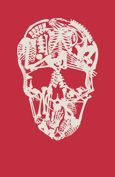 The Skeleton Skull Art Print
