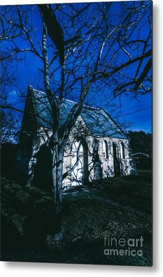 Beautiful Architecture In Darkness | Metal Print featuring the photograph Spooky Mystery Chapel by Jorgo Photography - Wall Art Gallery