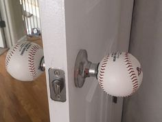 You may think baseball is a simple game because it doesn't look too fast paced. The reality is, there is a lot that goes into a game of baseball. Baseball Room Decor, Boys Baseball Bedroom, Softball Bedroom Ideas, Baseball Headboard, Kids Sports Bedroom, Boy Room, Kids Room, My New Room, Door Knobs
