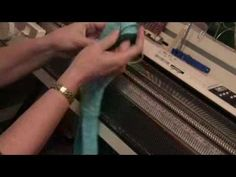 knitting socks on a standard gauge knitting machine (Part 1 of by Diana Sullivan Knitting Help, Knitting Videos, Arm Knitting, Knitting Socks, Knitting Stitches, Knitting Projects, Knitting Tutorials, Shibori, Brother Knitting Machine