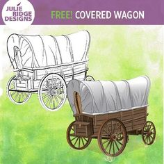 Covered wagon illustration by Julie Ridge is included in black and white and color. This illustration coordinates with the complete Covered Wagon Family Set Check out other Western-themed freebies by the TPT Clip Artists' Collab:Devil's Tower Clip Art by 35 Corks Art StudioLog Cabin Clip Art by Bell Ink Designs Wild West Gal by The Animated WomanAmerican Flag by Digi by AmySteam Locomotive by Crunchy MomNative American Tipi by Purple CaterpillarPioneer Clip Art by FREE YOUR HEARTAmerican…