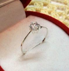 Vintage Ringe - 17,8 mm Ring Silber 925 mit Kristall-Stein SR368 - ein Designerstück von Atelier-Regina bei DaWanda