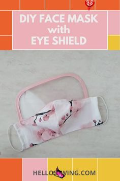 DIY Face Mask with EYE Shield (level up your protection now!) Free patterns for both the face mask and the eye shield. Check our free sewing patterns now and level up your protection now! This face mask with eye shield diy project is both fun and sews up quickly. Just check it out<br> Easy Knitting Projects, Sewing Projects, Diy Projects, Sewing Crafts, Homemade Face Masks, Diy Face Mask, Sewing Patterns Free, Free Sewing, Free Pattern