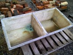 Concrete Laundry Sink Base : have this sink in my basement and I thought it was concrete ...