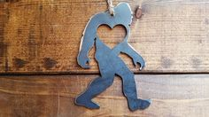 I found BigFoot / Sasquatch! Are you a BigFoot / Sasquatch person? Then this heart mystical creature ornament is for Christmas Tree Decorations, Christmas Gifts, Christmas Eve, Bigfoot Party, Ufo Stories, Finding Bigfoot, Bigfoot Sasquatch, Sustainable Gifts, Heart Ornament
