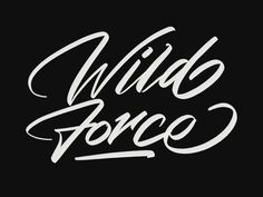 Wild Force designed by Kotak Kuning Studio. Brush Type, Modern Calligraphy, Gym Motivation, Hand Lettering, Typography, Quotes, Letterpress, Quotations, Letterpress Printing