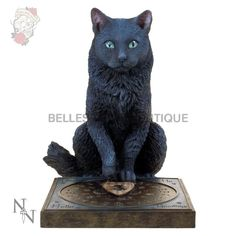 This beautiful Figurine is brought to you from the Gothic imagination of Lisa Parker. It depicts a black cat sitting behind an Ouija board with his paw placed on the pointer. It would make a great addition to any Gothic or cat collection. Statue Base, Cat Statue, Dark Fantasy, Fantasy Art, Ouija, Lisa Parker, His Masters Voice, Harry Potter, Motifs Animal