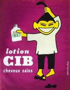 Lotion CIB : Douhaire c. 1950