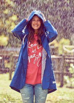 Regnjakke blå 217M-708 Monsoon Rainjacket - china blue