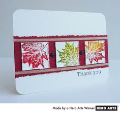 Stamped Leaves-10 ways to use leaf shapes on cards