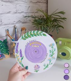 New art decor for my room🌿 I really love this pastel colors✨ 🌻Save if you liked this art idea 🧚‍♀️Inspired b Small Canvas Art, Mini Canvas Art, Aesthetic Painting, Aesthetic Art, Aesthetic Colors, Record Wall Art, Cd Wall Art, Cd Art, Drawing Wallpaper