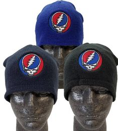 760a14c40bef9 Grateful Dead Hat  Steal your face Beanie  Fleece Lined  Beanie SYF Stealie Acrylic Beanie with Fleece lining. Grateful Dead HatsBeaniesBeanie  ...