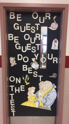 Beauty and the Beast STAAR inspired door!!