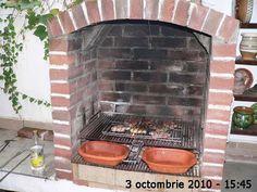 Cuptor de grădină - Capisci Outdoor Fireplace Patio, Outdoor Kitchen Patio, Outdoor Patio Designs, Outdoor Oven, Outdoor Kitchen Design, Outdoor Barbeque, Backyard Barbeque, Barbeque Design, Grill Design