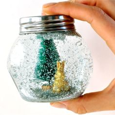 These DIY glitter snow globes are memorable & easy-to-make stocking stuffers