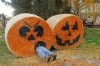 decorating with round hay bales - Google Search