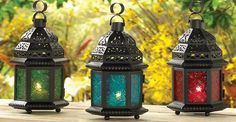These are really cool lanterns. I would love to have some hanging up in my yard. That would really help my yard look better.