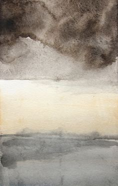 SALE 15 Off  Landscape Painting  Storm  Watercolor  by MaiAutumn, $25.50