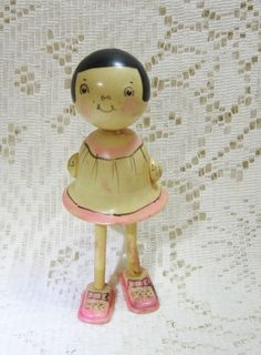 "Early Celluloid 5 1/2"" Walking Doll @ Vintage Touch  SOLD"
