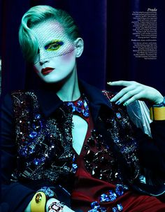 As seen in W Magazine May 2014 Photographer: Ben Hassett Fashion Editor and Stylist: Pano Yiapanis Models: Guinevere Van Seenus, Svetlana Z, Daiane Conterato, Sonya G, Carly Moore and Jenna Klein Make Up Artist: Pat McGrath Images via The Fashionography Beauty Editorial, Editorial Fashion, Editorial Photography, Fashion Photography, Pat Mcgrath Makeup, Guinevere Van Seenus, Makeup Masters, The Rocky Horror Picture Show, David Sims