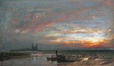 Reculver, Kent by Albert Goodwin   Canterbury City Council Museums and Galleries Date painted: 1904