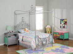 Girls' canopy bed can be the best bedroom design and decor by applying sets that perfectly meet and match overall space to make sure in giving optimal value King Size Canopy Bed, Twin Canopy Bed, Queen Canopy Bed, Metal Canopy Bed, Canopy Bed Frame, Kids Canopy, Bed Frame Design, Bed Design, Girls Twin Bed